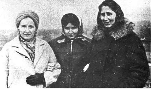 Катерина Зарицька, Надія Світлична, Одарка Гусяк лютий 1978 р