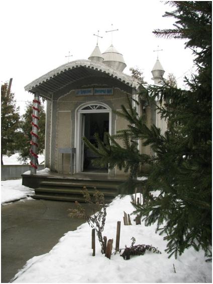 Каплиця на місці, де раніше знаходилася родинна оселя Чарнецьких