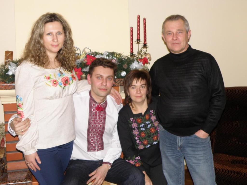 Михайло Гамкало в родинному колі