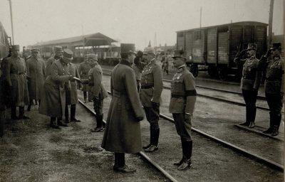 Karl I. besucht die kaiserlich deutsche Südarmee in Chodoriw, 3.5.1917 Ходорів перша світова 1917 рік