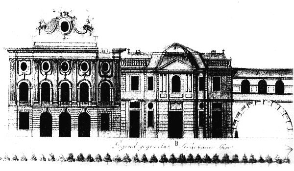 Театр і редутова зала. Нереалізований проект Карла Мерца 1784 року
