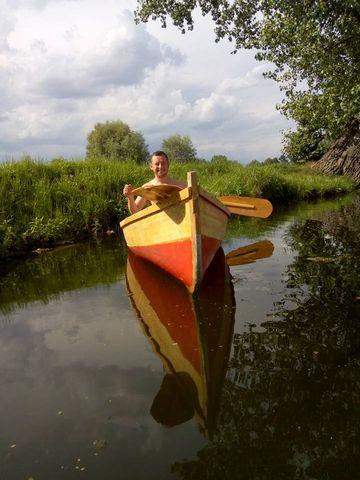 Михайло Романів на каное